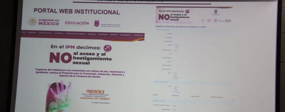 Anuncia IPN plataforma electrónica de denuncia segura contra el acoso