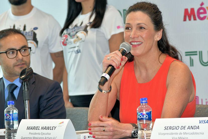 Mariel Hawley, presidenta ejecutiva de la Fundación Queremos Mexicanos Activos