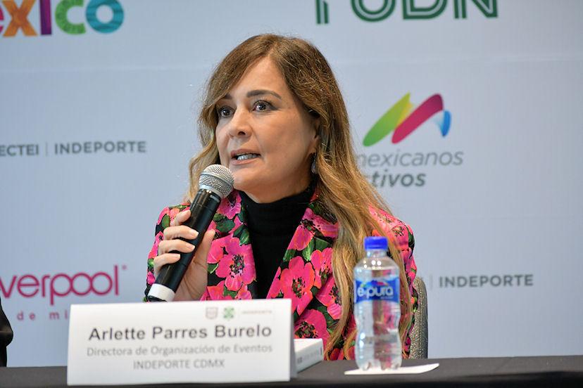 Arlette Parres Burelo, directora de Organización de Eventos del Indeporte de la CDMX