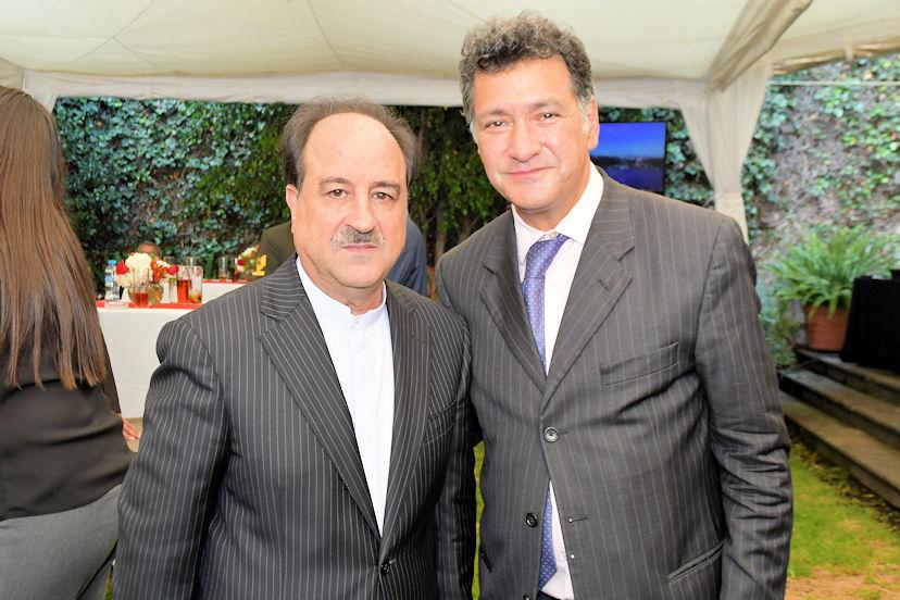 Mohammad Taghi, embajador de Irán, y Federico Lamont