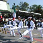 Pasan titulares de Sedena y Semar, revista de contingente previa al desfile militar