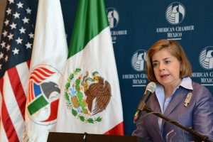 Mónica Flores Barragán, preside la American Chamber of Commerce of Mexico (Amcham) durante el periodo 2017-2018