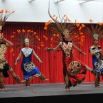 Se realizó una representación de danzas prehispánicas