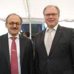 Klaus Rudishhauser, embajador de la Unión Europea, y Ruslán Spírin, embajador de Ucrania.