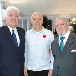 Arturo Duarte, embajador de Guatemala; Oliver Darien del Cid, embajador de Belice, y Luis García.