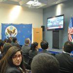Catedráticos, académicos y medios de comunicación, entre ellos, la revista Protocolo, fueron los invitados especiales a la transmisión de la toma de posesión de Donald Trump