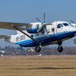 Avión polaco multifunción M28 visita México