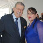 Petros Panayotopoulos, embajador de Grecia, y Aidé Reinoso