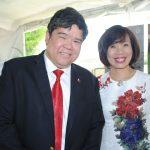 Eduardo José Atienza de Vega, embajador de Filipinas, y Lihn Lan Le, embajadora de Vietnam