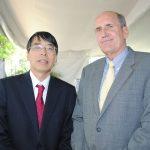 Akira Yamada, embajador de Japón, y Mark Mcguiness