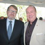 Hans Cristian Kint, embajador de Bélgica, y Eric R. Mercier, delegado general de Quebec en México