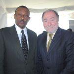 Guy Lamothe, embajador de Haití, y Eduard Malayan, embajador de la Federación de Rusia