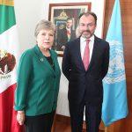 Canciller de México se reunió con titular de la Cepal