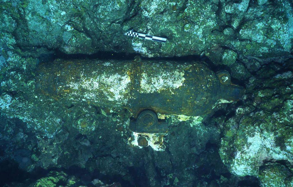 Analizan vestigios de posible nave de guerra británica encallada en Campeche