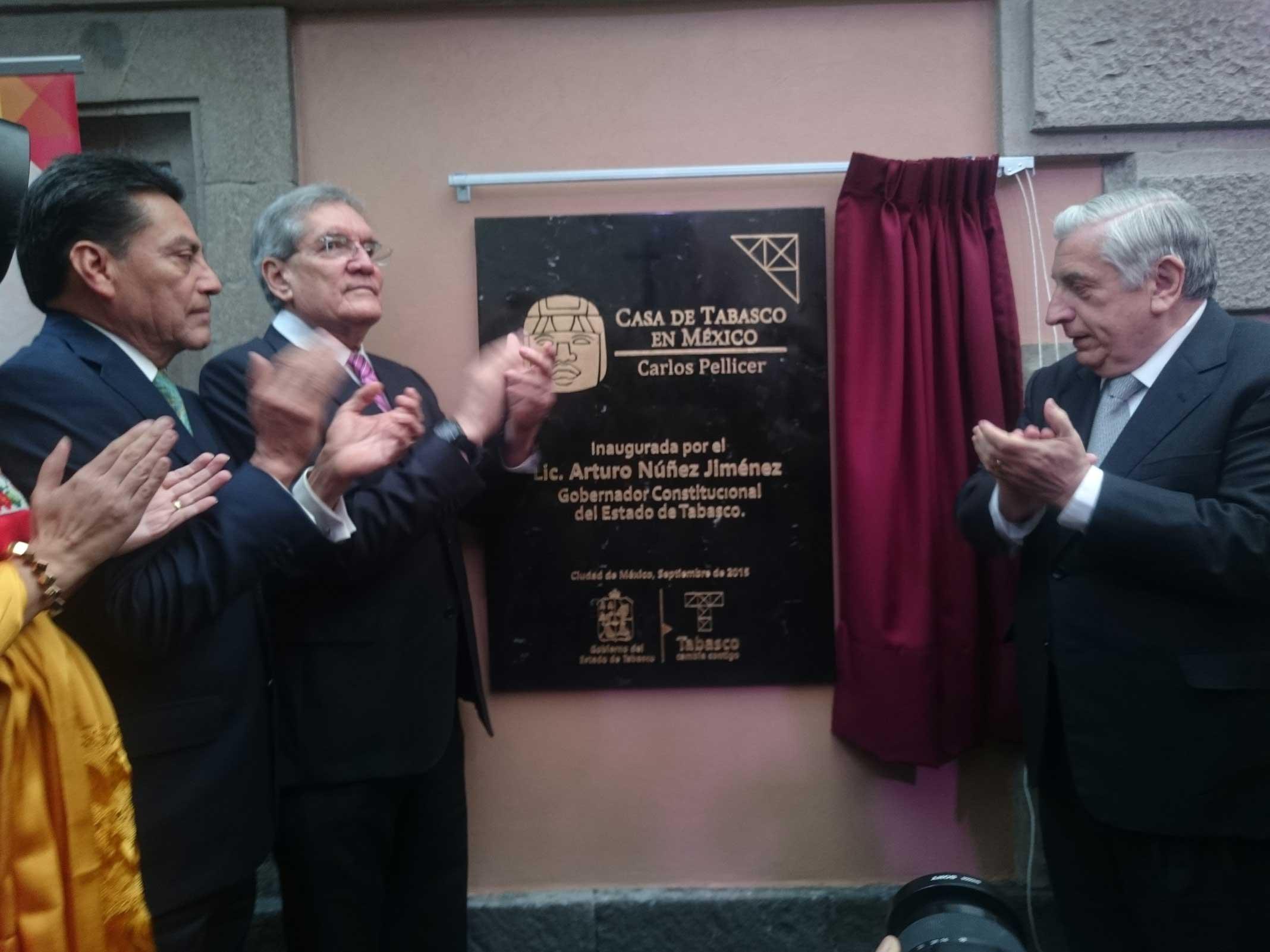 Autoridades estatales inauguran oficialmente la Casa de Tabasco en México Carlos Pellicer