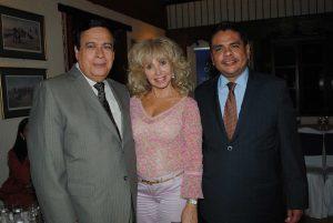 Aníbal Quiñonez, representante de la OEA; Wendy Coss y Alden Rivera, embajador de Honduras