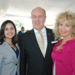 Andrea Reynoso, Eric R. Mercier, delegado general de Quebec en México, y Wendy Coss. Revista Protocolo Copyright©