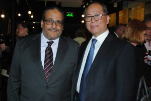 Hammad Al-rowaili, embajador de Arabia Saudita, y Xiaoqi Qiu, embajador de China