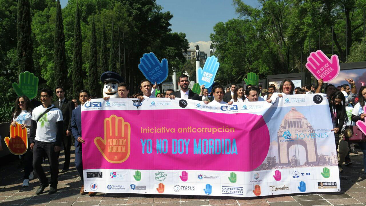 Por un México sin corrupción Yo no doy mordida #YoNoDoyMordida