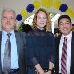 Fikret Turkes, encargado de Negocios A. I. de la Embajada de Turquía en México, con Carla Jones Söylemez y Víctor Estrada. Revista Protocolo Copyright©