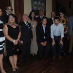 Alumnos de El Colegio de México con Luis Varela, cónsul honorario de Pakistán en Costa Rica; Ayesha Haque y su esposo, Aitzaz Ahmed, embajador de Pakistán