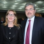 Alena Gazurova, embajadora de Eslovaquia, e Ion Vilcu, embajador de Rumanía