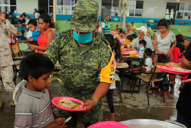 Ejército aplica Plan DN-III en zona devastada de Chiapas por el terremoto