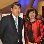 Akira Yamada, embajador de Japón, y Linh Lan Le, embajadora de Vietnam