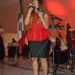 La cantante Nataly fue una de las encargadas de amenizar el festejo
