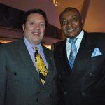 Sam Lobo y Leovigildo da Costa e Silva, embajador de Angola