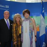 Eric R. Mercier, delegado general de Quebec en México; Wendy Coss y Helene David, ministra responsable de la Educación Superior en Quebec. Revista Protocolo Copyright©