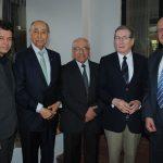 Jean Michel Colonnier, Carlos Sandoval, Enrique Díaz, Arnulfo R. Gómez y Rafael Nava. Revista Protocolo Copyright©