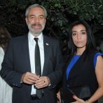 Zurav Eristavi, embajador de Georgia, y Gloria Chavira. Revista Protocolo Copyright©