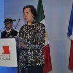 Maryse Bossière, embajadora de Francia, al momento de su discurso