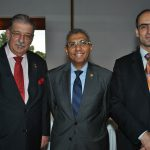 Petros Panayotopoulos, embajador de Grecia; Yasser Mohamed Ahmed Shaban, embajador de Egipto, y Rudy El Azzi