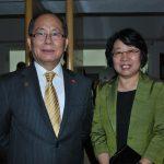 Xiaoqi Qiu, embajador de China, y su esposa, Riu Min
