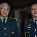 Noé Sandoval, subsecretario de la Defensa Nacional, y teniente coronel Domínguez