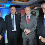 Dagoberto Rodríguez Barrera, embajador de Cuba; Rabah Hadid, embajador de Argelia; Pál Laszlo Varga Koritár, embajador de Hungría, y Enio Cordeiro, embajador de Brasil