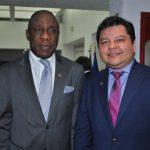 Obou Marcelin Abie, embajador de Costa de Marfil, y Mauricio Peñate