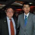 Daniel Chuburu, embajador de Argentina, y Akira Yamada, embajador de Japón