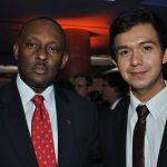 Guy Lamothe, embajador de Haití, y Alan Vivero