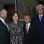 Jorge Castañeda, Maryse Bossière, embajadora de Francia; Salvador Jara, subsecretario de Educación Pública, y Juan Gallardo
