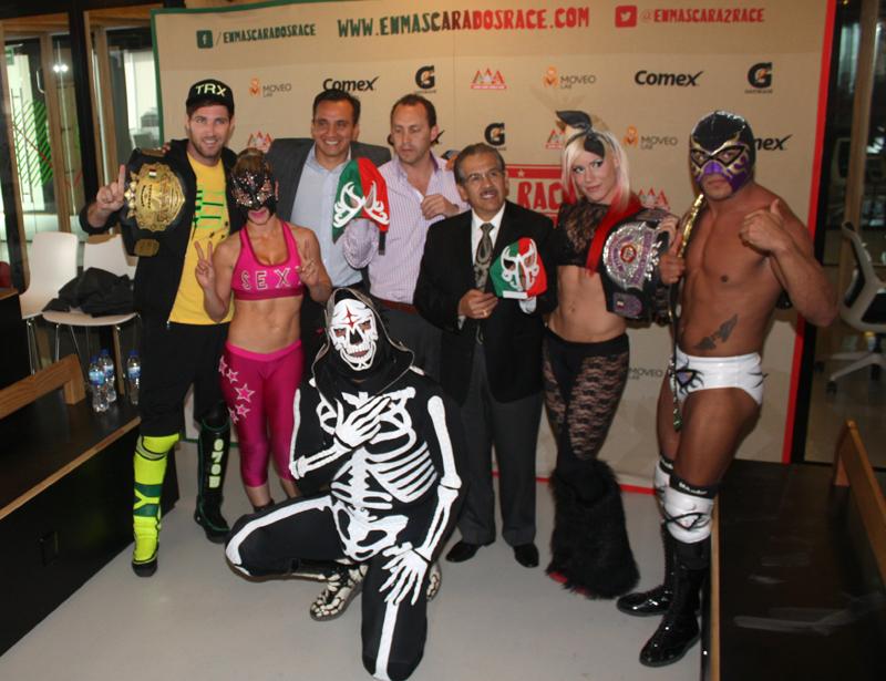 Autoridades de Moveo Lab, Lucha Libre AAA y el Instituto del Deporte de la Ciudad de México anunciaron la Enmascarados Race