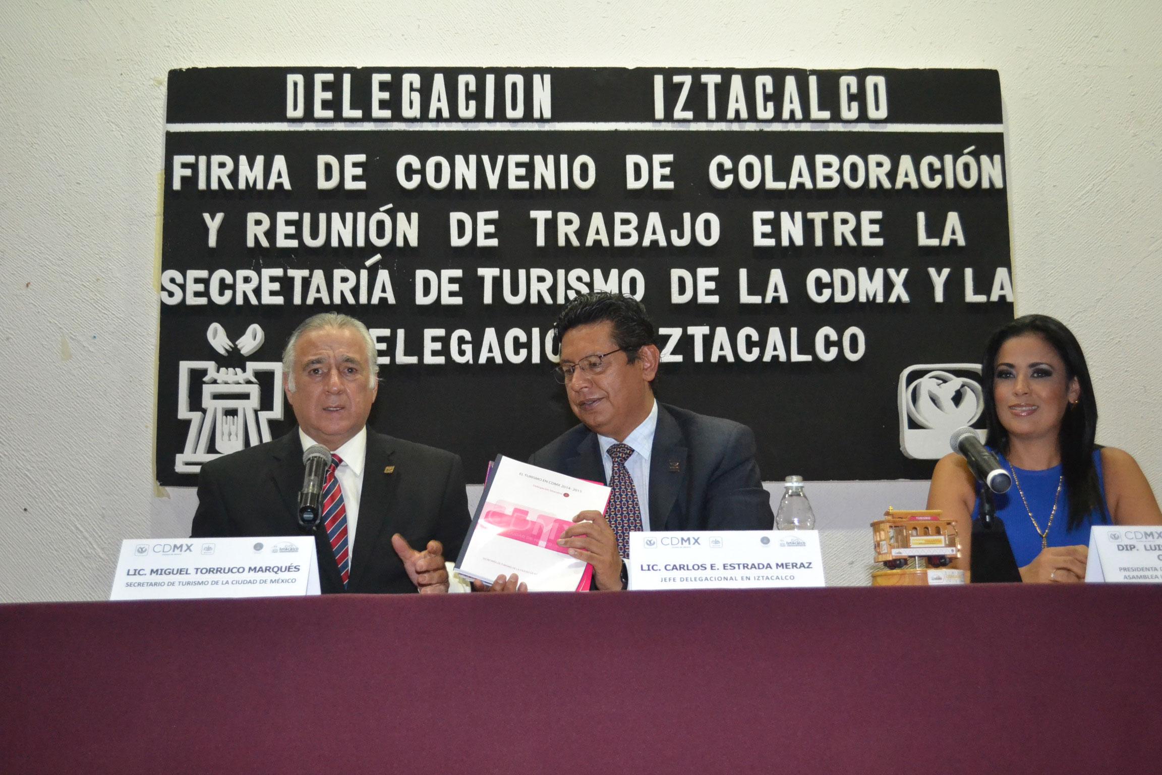 Entrega Sectur CDMX diagnóstico a la delegación Iztacalco