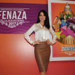 La actriz Susana González, belleza zacatecana, acudió a la presentación