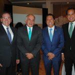 Federico Borrego, coordinador de la Fenaza 2017; Eduardo Yarto, secretario de Turismo de Zacatecas; Raúl Muñoz del Cojo y Víctor Legaspi
