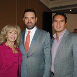 Wendy Coss, Alejandro Tello Cristerna, gobernador de Zacatecas, y Edgar Reyes