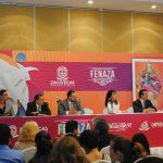 El grupo DLD, Federico Borrego, coordinador de la Fenaza 2017; Alejandro Tello Cristerna, gobernador de Zacatecas; la actriz Susana González, Raúl Rodríguez, representante del gobierno de Zacatecas en la CDMX, y Eduardo Yarto, secretario de Turismo de Zacatecas, engalanaron el presídium de honor