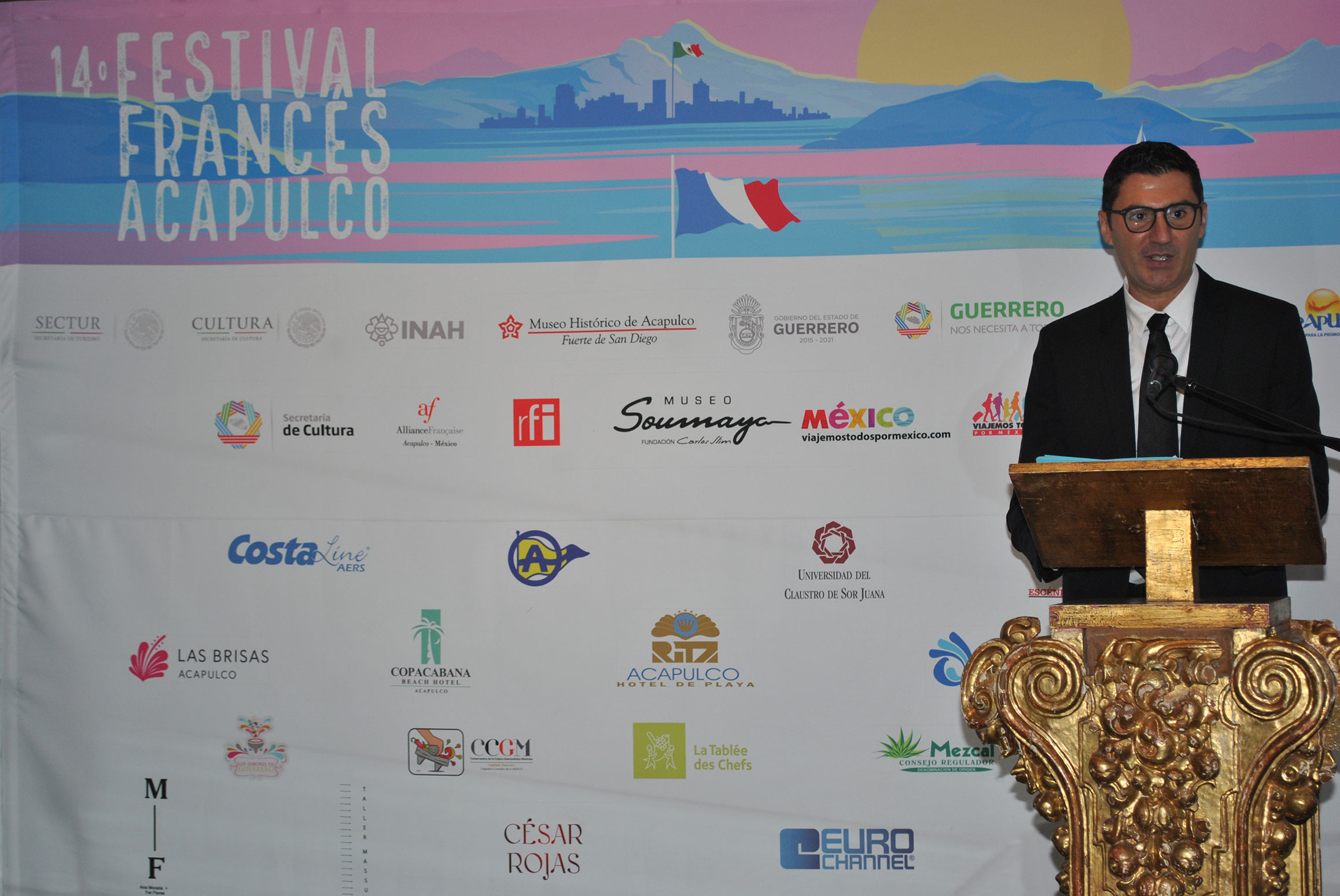 Karim Gilles Djllit, director general del Festival Francés de Acapulco