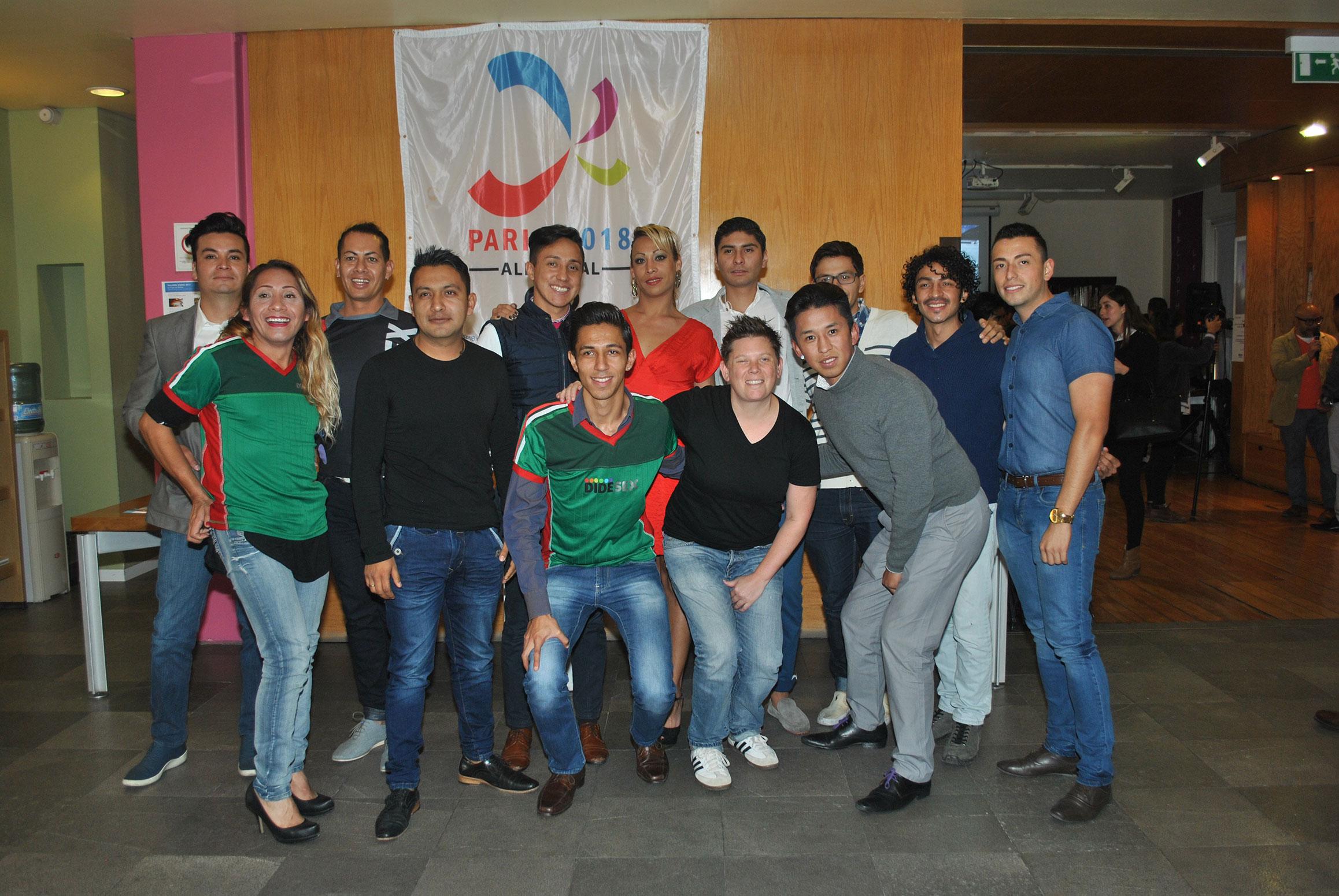 Deportistas de la organización civil mexicana Didesex, esperan participar en los Gay Games de París 2018